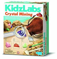 KIDZ LABS CRYSTAL MINING - EXCAVATE & DIG YOUR OWN ROCKS KIDS SCIENCE KIT 4M