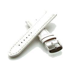 Uhrband Solothurn weiß Alligator 24 mm Lederuhrband Uhrenbänder
