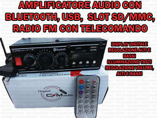 AMPLIFICATORE AUDIO HIFI USB 12V 220V SD MP3/4 FM RADIO CON FUNZIONE BLUETOOTH