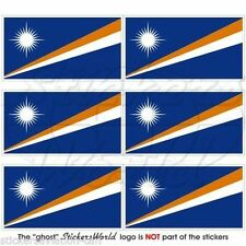 "MARSHALL ISLANDS Flag, Micronesia Mobile Cell Phone Mini Decals Stickers 1.6"" x6"
