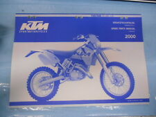 2000 KTM 125 200 SX MXC EXC Chassis Spare Parts Manual 320479