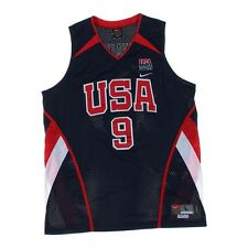 Mens NIKE DWAYNE WADE USA Olympic Authentic Jersey Sewn sz Large L +2 Length Z47