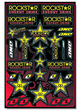 One Industries Rockstar Hoja pegatina 12 X 18 Motocross Bike gráficos calcomanía 4mil