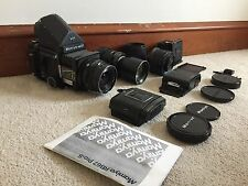 Mamiya RB67 Medium Format Film Camera Outfit With Lenses and Film Backs