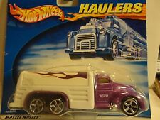 Hot Wheels Haulers Purple w/Flames Truck