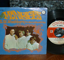 """* * MONKEES OFFBEAT LEIBER/STOLLER """"D.W. WASHBURN"""" CLEAN 1968 VG+/M- 45/PIC SLV!"""