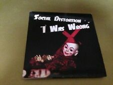 SOCIAL DISTORTION - I WAS WRONG CD SINGLE 1 TRACK PROM0 CARD SLEEVE GRUNGE
