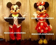 """New Mickey mouse Minnie mouse Suit Mascot Costume Character Fancy Dress Sz 5' 9"""""""
