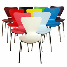 Mixed Set of 6 Arne Jacobsen Series 7 Stacking Chairs (you select colours)