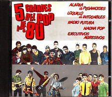 CD 5 grandes pop de los 80 SPAIN 1991 ALASKA NACHA POP RADIO FUTURA  movida