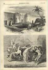 1857 Western Entrance Shere Shah Fort Delhi Camels Elephants Ditch Wall