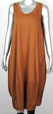 NEW LADIES LAGENLOOK QUIRKY BOHO  SLEEVELESS COCOON TUNIC DRESS