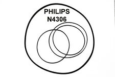 COURROIES SET PHILIPS N4306 MAGNETOPHONE A BANDE EXTRA FORT NEUF FABRIQUE N 4306