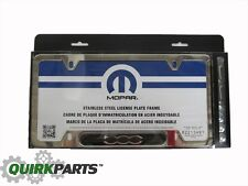 2013-2017 FIAT 500 CHROME LICENSE PLATE FRAME HOLDER WITH HARDWARE OEM NEW MOPAR