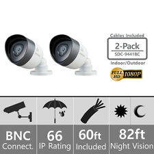 SDC-9441BC - 2x Samsung 1080p Weatherproof Bullet Camera w/ 60ft Cable