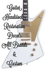 Guitar Restoration Waterslide Headstock Decals