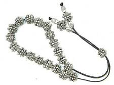 0372 - Greek Style Loose Strung Prayer Worry Beads, Komboloi Silver Tone Alloy