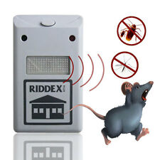 Ultrasonic New White Riddex Plus Electronic Pest Rodent Control Repeller 220V