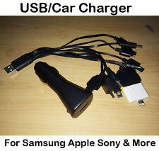 USB MULTI CAR CHARGER IPHONE 4 5 5s 5c IPAD IPOD MP3 NOKIA HTC Samsung Galaxy