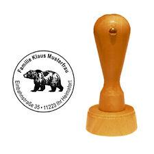 Stempel « GRIZZLY BÄR » Adressenstempel Motivstempel Bär Braunbär