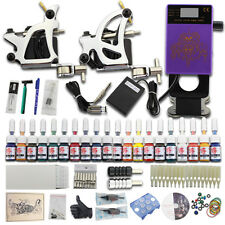 Tattoo Kit Completi per Tatuaggi 2 Macchinette 20 Inchiostro Power Supply DJ27