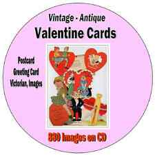 Vintage Valentine Greeting Card - Postcard - Victorian  -  880 Images on CD