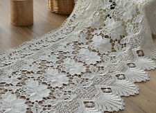 "60"" White Macrame Lace Window Curtain Valance 14"" Length"