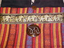 WOMEN BEAUTIFUL Thailand Intricate Purse Elephant Woven Band& Shell~COLORFUL~BAG
