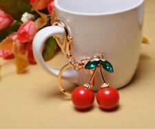 Creative Cute Red cherry Purse Bag Charm Key Chain Keyring Key Chain Gift