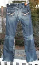 """BKE Buckle """"Madison"""" Boot Cut Stretch Jeans JUNIORS 27 X 31.5 Style #11118R Fray"""