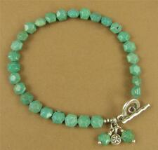 Turquoise bracelet. Sterling silver.Flower charm. Cluster dangle. Handmade