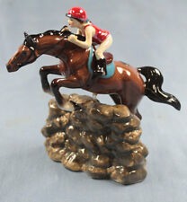 Springreiter Pferd porzellanfigur Porzellan figur hagen renaker horse