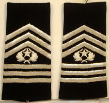 US Army ROTC Cmd Sgt Maj Epaulet Soft Shoulder Boards Large Dress Blues