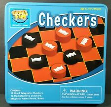 Innovative Designs Travel Fun Checkers Magnetic Tin Game