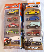MATCHBOX MBX OUTDOOR SIGHTS ADVENTURE 5 PACK GIFT SET LOT CAMPER TRAVEL TRAILER