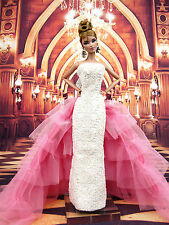 Pink Oscar Designer Evening Dress Outfit Gown Silkstone Barbie Fashion Royalty