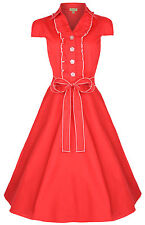 NEW VINTAGE 50'S STYLE ORANGE ROCKABILLY SWING PARTY DRESS SIZE 22