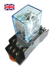 24VDC Coil Power Relay 14 Pin 4PDT 5A 240VAC with Socket - Free Postage