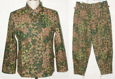 GERMAN ELITE LINEN HBT DOT 44 M43 FIELD UNIFORM TUNIC & TROUSERS S-31055