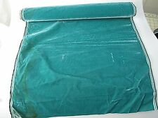 Antique French Millinery Velvet Fabric Cotton Silk Early 19 C Marine green