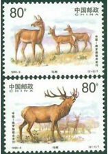 China 1999-5 Red Deer jointly issued by Russia stamp set MNH