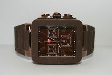 NWT MICHELE Women's watch PARK Jelly Bean Brown & Espresso Case MWW06L000007