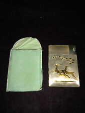 Elgin American Magic Action Lite-O-Matic Deer Cigarette Case Lighter vintage USA