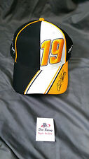 Carl Edwards JGR # 19 ARRIS Black White Hat Cap Chase Authentics Fitted LG - XL