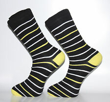 High Quality Black, White and Yellow Striped Socks