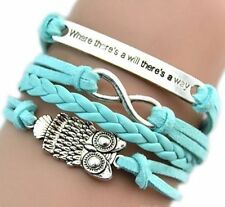 Bracelet Neuf Infini Hibou Tendance Bangle Gourmette Fashion Pour Femme Fille