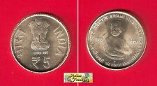 INDIA 2013 5 RUPEES 150 YEAR SWAMI VIVEKANANDA BIRTH COMMEMORATIVE UNC COIN