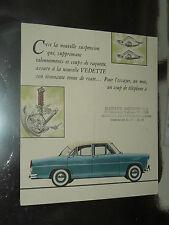 Prospectus SIMCA VEDETTE Stabimatique  Régence  catalogue,brochure, prospekt car