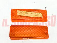 PLASTICHE ARANCIO FANALINI ANTERIORI FRECCE FIAT 124 COUPE - 850 COUPE 2 SERIE