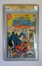 Teen Titans #2 CGC 8.5 Signed by Perez and Wolfman First Deathstroke